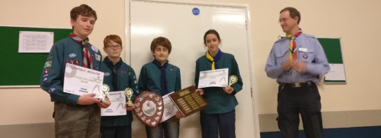 District Success in County Scout Shooting Competition